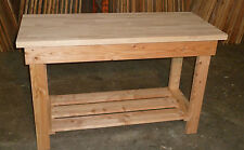 Wooden Work Bench 1.8m long(6ft)  40mm solid beech top by gardenlarch