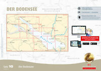 Sportbootkarten-Satz 10 Revierführer Bodensee Yacht Navigator Kartensatz Karte
