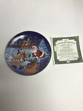 Bradford Exchange Disney Mickeys Holiday plate Thanks Pluto 3rd in series #5529