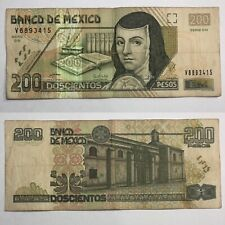 🇲🇽$200 Mexican Pesos 2007 Mexico Vintage Juana Vg Pick P-119g.2 World Currency