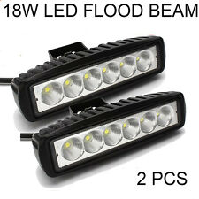 2 PCS 18W LED Work Lights Bar Flood Light Offroad Car Jeep Truck ATV 4WD 12V 24V