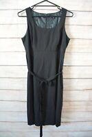 Cue Dress Size 14 Large Black Sleeveless Shift A line Dress