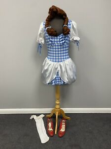Complete Dorothy Costume & Accessories Small Ex Hire Fancy Dress Costume Cosplay