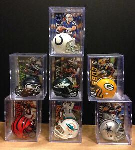 NFL Fantasy Football mini helmet shadowbox Top 15 QB Brady Manning Rodgers