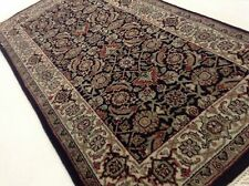 "2'.0"" X 3'.10"" Black Ivory Super Herati Persian Oriental Rug Hand Knotted Wool"