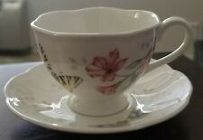 Lenox Butterfly Meadow Tiger Swallowtail Flower Cup & Saucer Set New in Box