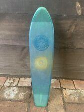 Vintage 1970s Jupiter Skateboard Blue Hard Plastic Made In Usa