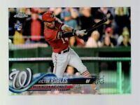 2018 TOPPS CHROME VICTOR ROBLES RC REFRACTOR #175 NATIONALS