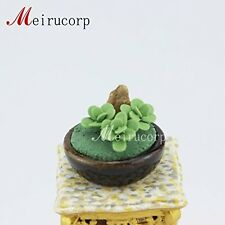 Nice 1/12 Scale Dolls house Miniature decoration Green plants and rockery model