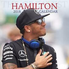 LEWIS HAMILTON F1 2018 CALENDAR SQUARE (30cm x 30cm ) WALL NEW + PULL OUT POSTER