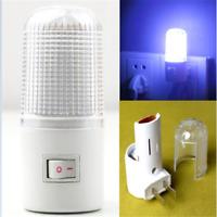 LED Night Light Bedside Lamp Wall Mounted US Plug 4 LED Bedroom Lighting Bulb 1W