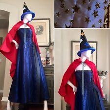 3 PC CELESTIAL SORCERESS Costume HOCUS POCUS Witch STARS Dress CAPE Wizard HAT