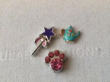 Origami Owl Style - Living Memory Floating Charm set - Wicca Trio