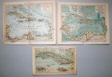 Karibik, Antillen, Kuba - Konvolut, Sammlung - 4 Karten 1890-1904 - Lithograpie