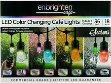 Enbrighten Seasons Color-Changing SeasonLED Cafe Lights, 18 Bulbs, 36ft. Black