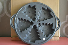 "Cast Iron Christmas Tree Mold Baking Pan 8 6/8"" 5 Christmas Trees"
