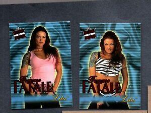 2001 Fleer WWF Raw Is War Femme Fatale #FF4 FF9 Lita Rc Rookie ZWb 2910