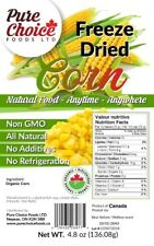 Freeze Dried Organic Corn - Made in Canada - Made for Long Term - 4.85 oz Bag