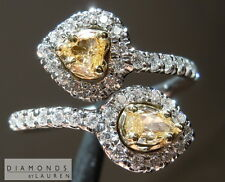 .65ctw Fancy Colored and Colorless Diamond Bypass Ring R7293 Diamonds By Lauren