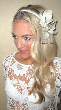 Birdcage Veil Voilette Ivory Hair Head Band Bride Bridal Tiara Choochie Choo