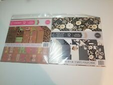 12X12 SCRAPBOOKING PAPER PAD 24 LOT LETTERS FLORAL STRIPES POLKA DOTS CRAFTSMITH