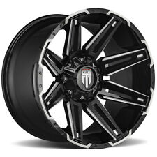 "American Truxx AT1903 Boom 22x12 8x6.5"" -44mm Black/Milled Wheel Rim 22"" Inch"