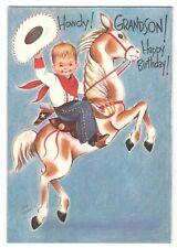 Vintage Rust Craft Greeting Card BIRTHDAY COWBOY BOY AF3