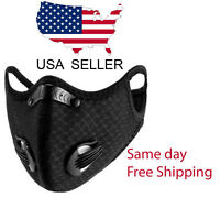 Outdoor Cycling  running  Sport Mask with carbon Filter with valves