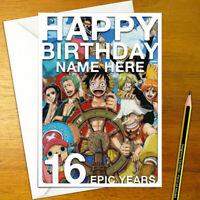 DEATH NOTE Personalised Birthday Card A5 japanese anime light kira L misa ryuk