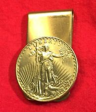 1923 Gold Brass St Saint Gaudens $20 Double Eagle Coin Money Clip + Gift Box!