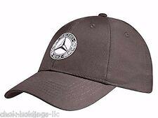 Genuine Mercedes Benz Cap Hat Baseball, Brown cotton, check lining B66041516