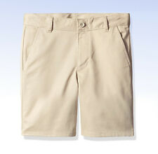 DOCKERS Boys' Uniform SHORT Flat Front Adjustable Waist - Khaki - Size 4
