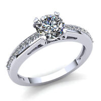 0.5ctw Round Cut Diamond Ladies Accent Solitaire Engagement Ring 10K Gold