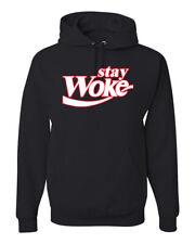 Stay Woke CokeParody Mens Hooded Sweatshirt Graphic Hoodie