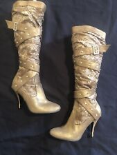 BABY PHAT Heel Boots Gold Size 8