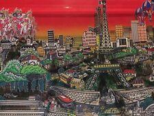 "Charles Fazzino: Original 3D ""UNFORGETTABLY PARIS"", handsigniert + Rizzi Pin"