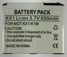 New Battery - Replacement for Motorola KRZR K1M GSM / KX1 GSM