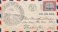 US Airmail 1930 First Flight Plane Over Kansas City Slogan Stamp Cover Rf 48507