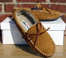 Minnetonka Men's Casey Slipper - Cinnamon Suede - 10