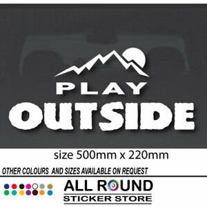 PLAY OUTSIDE 4x4 CAR STICKER DECAL 4WD LARGE