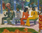 The Market Paul Gauguin Wall Art Print on Canvas Giclee Painting Repro 8x10 SM