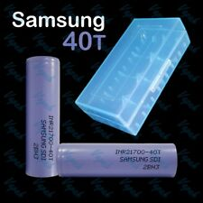 2 SAMSUNG 40T INR 21700 4000mAh/35A High Drain Rechargeable Battery / Blue Case