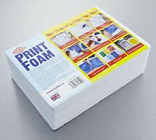 Essdee block printing impression mousse lino A4 - 210 x 297 x 10mm pack de 10 safe & easy