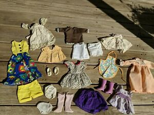 Vintage Crissy Doll Lot Of Clothes 18 Items Shoes Lavender Boots