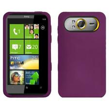 AMZER Silicone Soft Skin Jelly Fit Case Cover for HTC HD7 - Purple