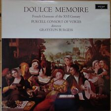ZRG 667 Doulce Mémoire FRENCH CHANSONS of the XVI CENTURY/Purcell Consort O....