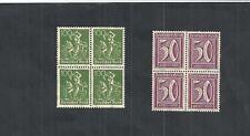 Deutsches Reich, 1921 Michelnrn: ex 177 - 196 **, Viererblöcke, Katalogwert € 11