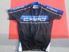 CAPO (Medium) blue /black Cycling SS Jersey Full zipper Men Capoforma Italy M