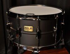 Tama snare drums Ltd Ed S.L.P. 8x14 Big Black Steel 1.2mm shell LST148 New