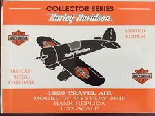 HARLEY-DAVIDSON DIE-CAST LIMITED EDITION AIRPLANE BANK COLLECTOR SERIES